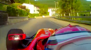 Scary GP2 hill-climb